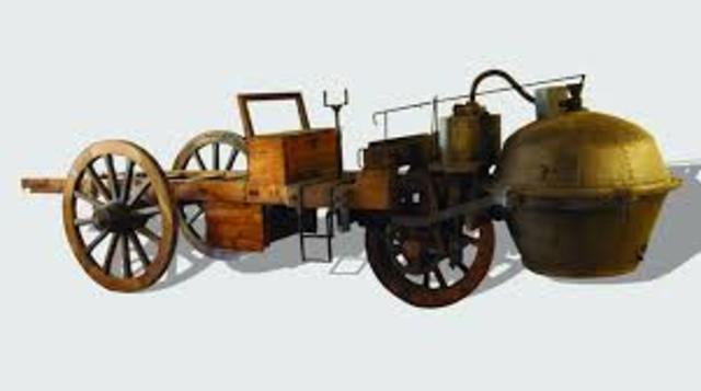 primer vehiculo impulsado a vapor