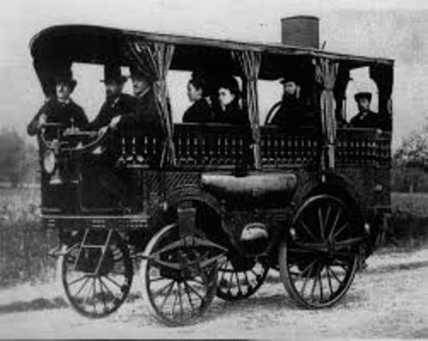 carro a vapor con capacidad para 18 personas