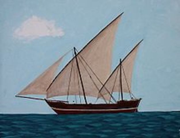 The Muslims invented the triangular sail