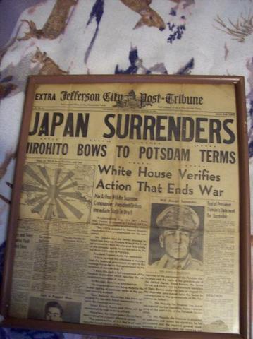 "Japan Surrenders (aka ""Victory over Japan Day"")"