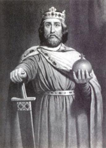 Carlemany es proclama rei dels francs.
