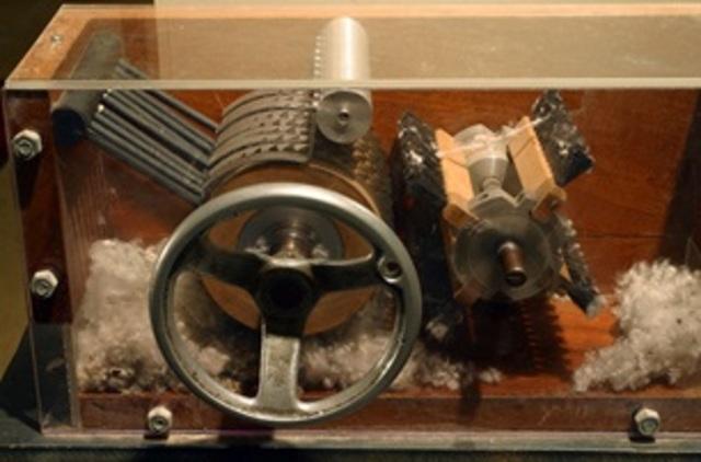 Eli Whitney inventó una máquina desmotadora
