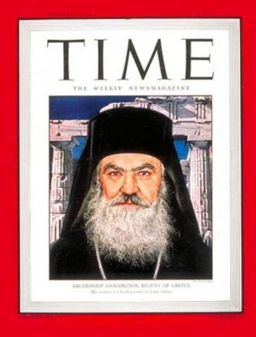 Ο Δαμασκηνός ενθρονίζεται  αρχιεπίσκοπος Αθηνών. Στάθηκε με όλες του τις δυνάμεις στο πλευρό του καταπιεσμένου λαού. Διαδέχεται το Χρύσανθο που καθαιρέθηκε γιατί αρνήθηκε να ορκίσει τη δοσύλογη στους Γερμανούς κυβέρνηση