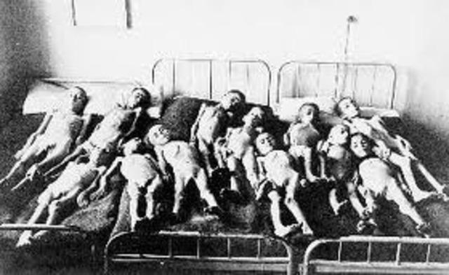 Η πείνα σε συνδυασμό με τις άσχημες καιρικές συνθήκες έχει σαν συνέπεια χιλιάδες θύματα  ανάμεσα στο αστικό κυρίως πληθυσμό της χώρας. Τα μέσα του 1942 οι νεκροί θα ξεπεράσουν τους 200.000