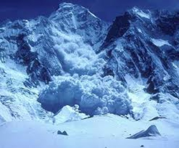 Avalanche tumbled down hill
