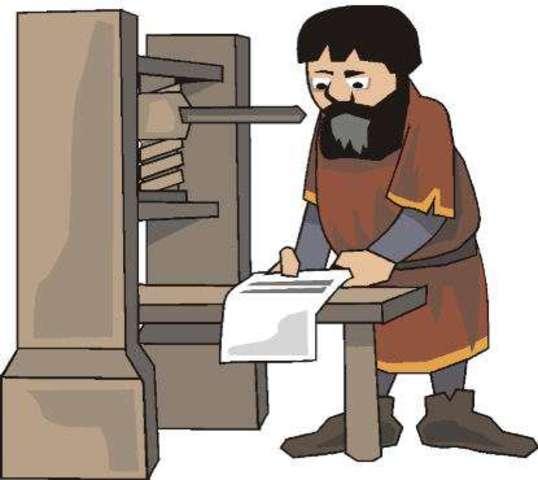 El libro y la imprenta manual