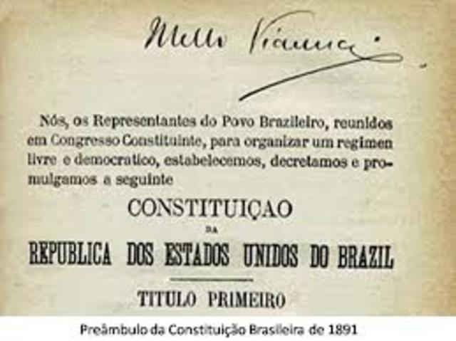 promulgada a Constituição (primeira do período republicano) pela Assembleia Constituinte