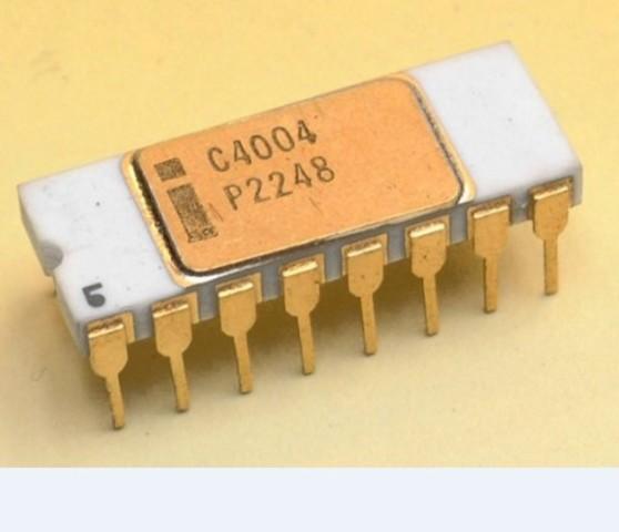 Fabricación del primer microprocesador (4004)