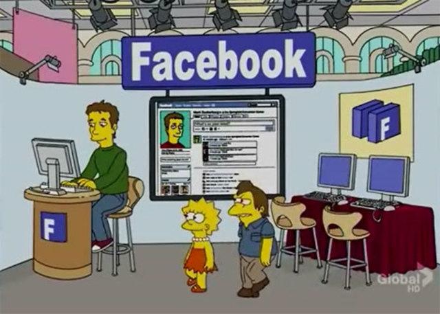 Zuckerberg en los Simpson