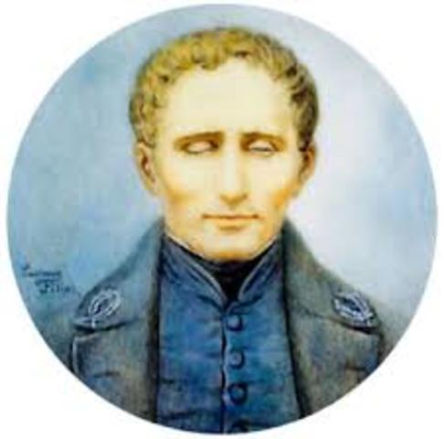 Louis Braille (1806-1852), a partir de él se crea el sistema de lectoescritura que lleva su nombre