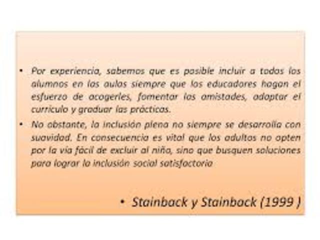 Stainback y Stainback proponen tres razones a favor de una escuela inclusiva.