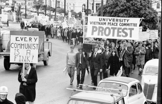 Protests the War