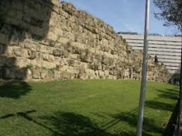 erste Mauer von Rom