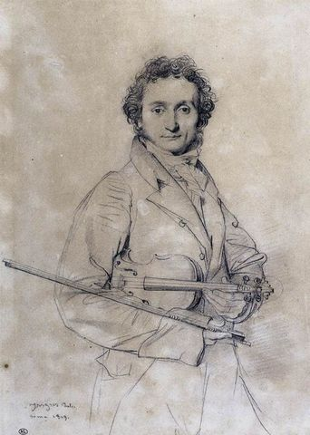 (1782-1840) Niccolo Paganini (Italiana)