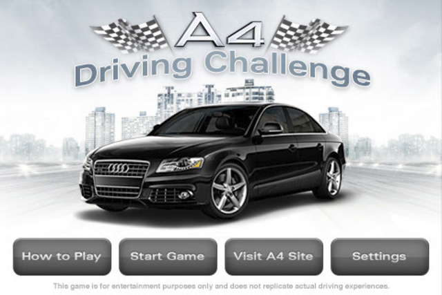 Audi: A4 Driving Challenge