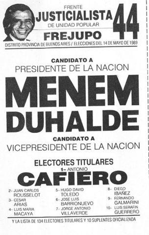 Campaña electoral y elecciones de 1989