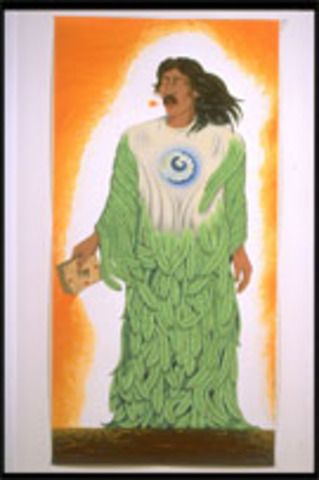 Emmanuel Montoya   Oakland, CA   Two-Block Color Lino-Cuts