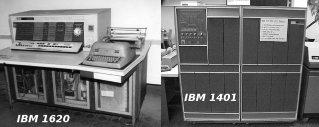 Computadores IBM da segunda geração.