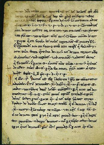 Les Homilies d'Organyà  (finals del segle XII i principis del XIII)