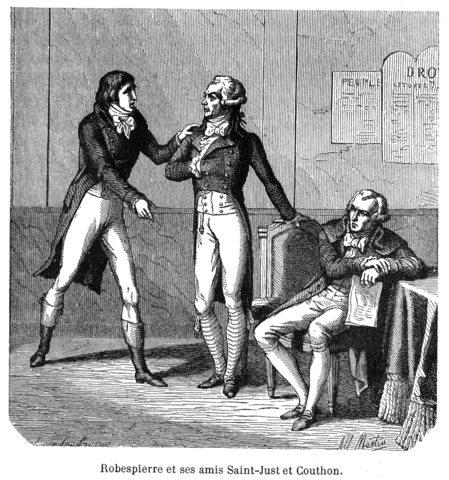 Robespierre es guillotinado junto a Saint-Just, Couthon y otros 19 de sus partidarios