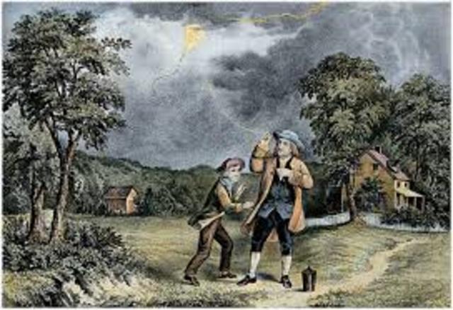 Benjamin Franklin Kite experiment