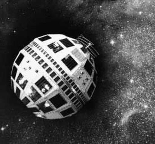 """Primer satélite comercial de comunicaciones entre EEUU y Europa (""""Telstar"""")"""