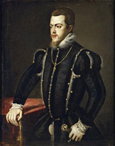 Phillip II's reign begins