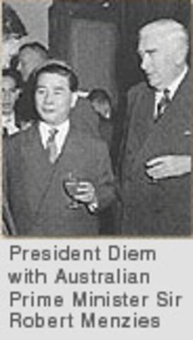 South Vietnamese visit to Australia