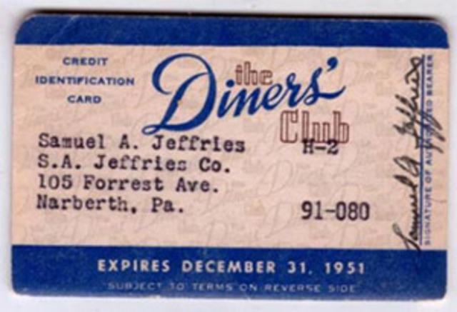 Первая платежная система. Первая универсальная кредитная карта (Diners Club) появилась в 1950 году