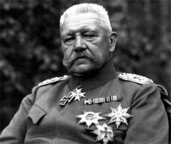 muerte de Paul von Hindenburg
