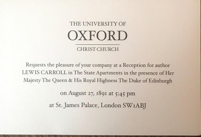 Lewis Carroll Has Reception In London