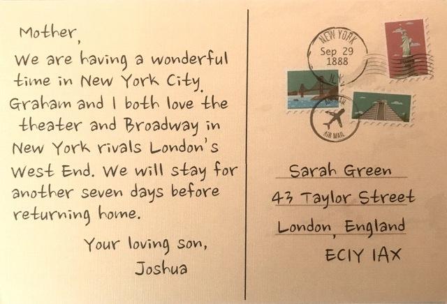 Joshua Writes From New York City