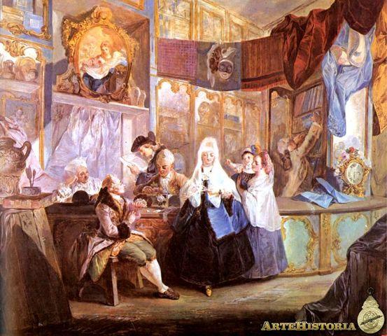 La tienda del anticuario Geniani, Paret y Alcázar