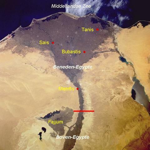 De samenvoegimg van Boven- en Beneden Egypte.