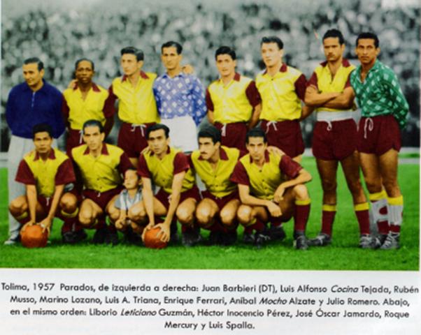DEPORTES TOLIMA LOGRA EL SUBCAMPEONATO EN 1957