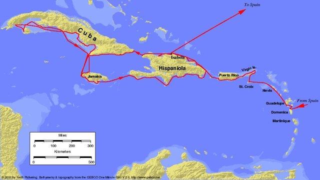 Columbus leaves Spain on Second Voyage