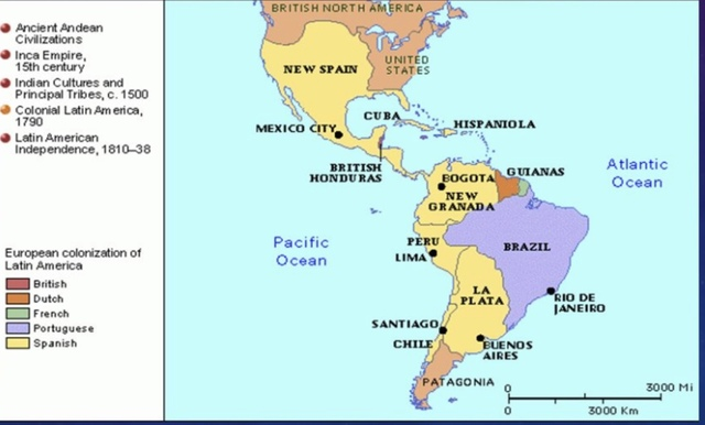 Latin America gains independence from Spain and Portugal