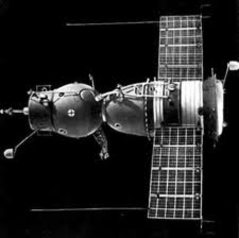 Soviet Soyuz 1 is Launched
