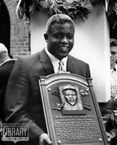 Jackie is inducted into the baseball Hall of Fame