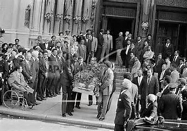 Jackie Robinson dies