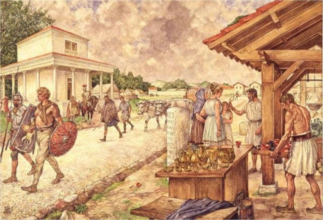 Verandering naar land-bouwstedelijke samenleving