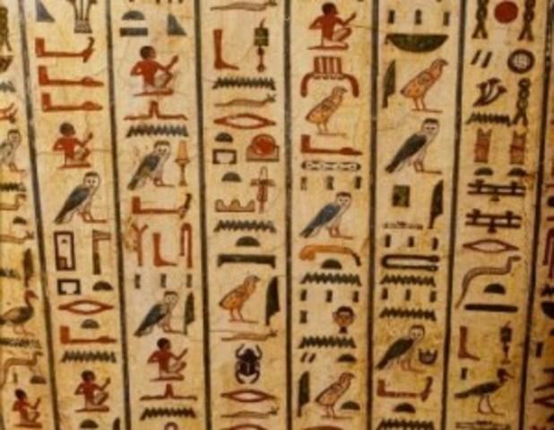 Uitvinding hiërogliefenschrift