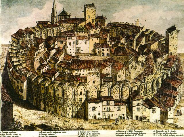 Amphitheater von Arles als Festung