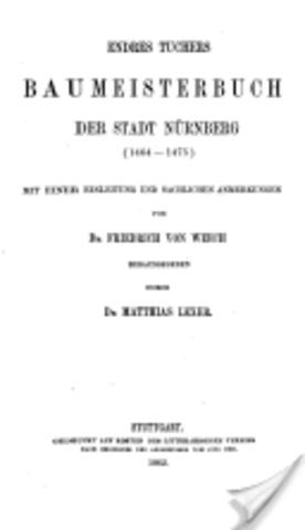 Endres Tucher: Stadtbaumeister von Nürnberg