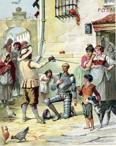 (3) El Quijote consigue nombrarse caballero