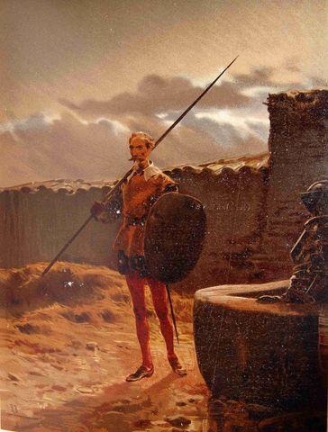 (3) Intentan robarle las armas al Quijote