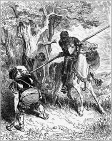 (4) El Quijote defiende al criado maltratado