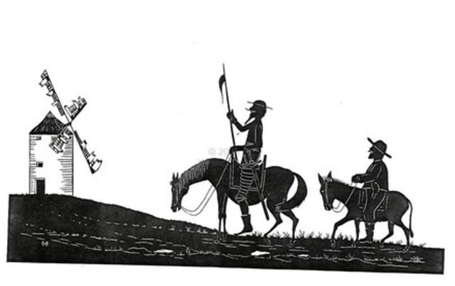 (7) El Quijote no quiere quedarse en su casa