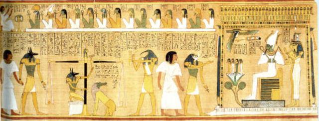 Een hoogontwikkelde cultuur ontstaan in Egypte.