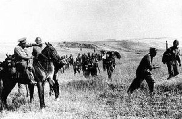 The start of the Spanish Civil War
